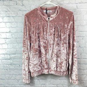 Capsule Pink Velour Full Zip Jacket